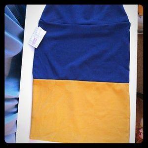 Cassie Pencil skirt - Med. Color block Lularoe